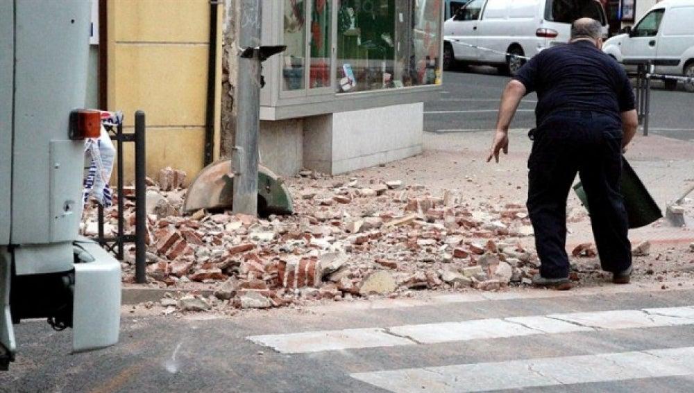 Destrozos provocados por el terremoto de Melilla