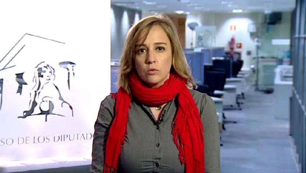 Tania Sánchez, durante una entrevista en Espejo Público