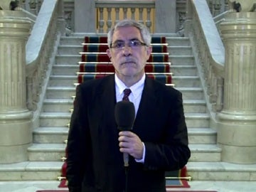 Gaspar Llamazares, durante un entrevista en Espejo Público