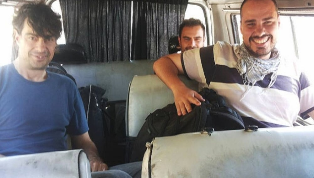 Periodistas españoles liberados en Siria