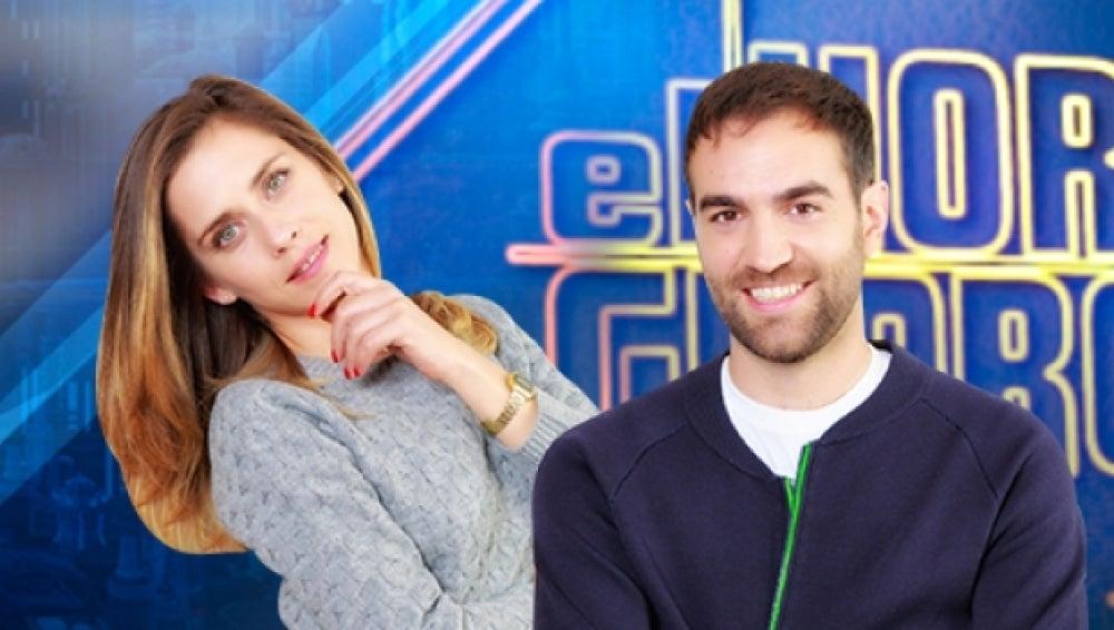 Jon Plazaola y María León en 'El Hormiguero'