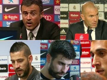 Luis Enrique, Zidane, Kiko Casilla, Piqué y Arbeloa