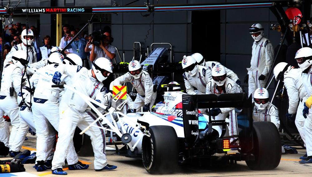 Un 'pit stop' de Williams