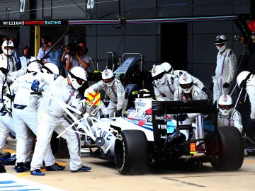 Un 'pit stop' de Williams