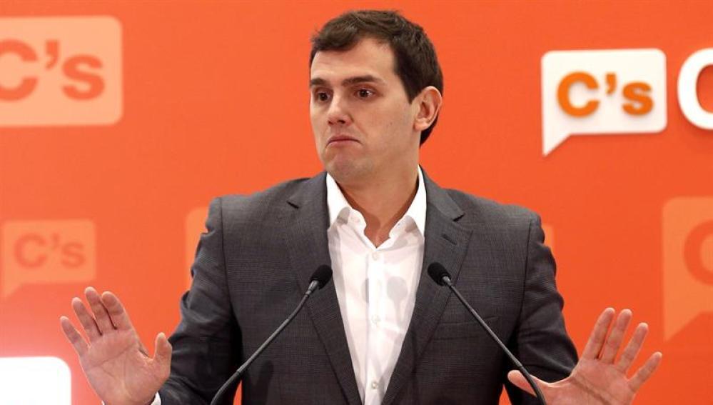 Albert Rivera, tras la reunión de la Ejecutiva Nacional del partido
