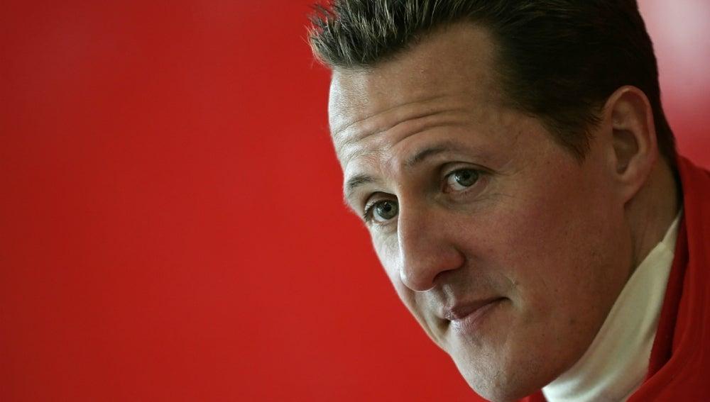 Michael Schumacher, antes de una carrera con Ferrari