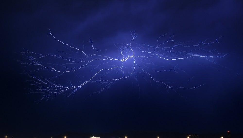 Tormenta eléctrica en Las Vegas