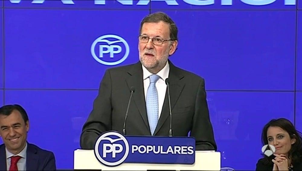 """Frame 68.35405 de: Rajoy se ofrece como garantía de seguridad para el futuro del país frente """"adanes y aventuras"""""""