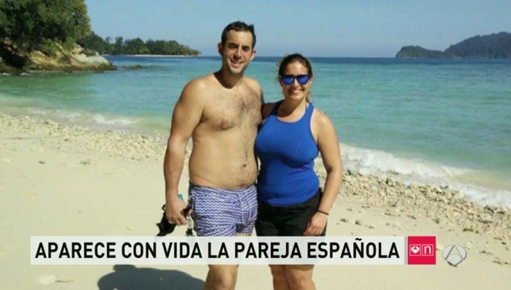 Frame 97.323312 de: Hallan con vida a los dos españoles desaparecidos en Malasia