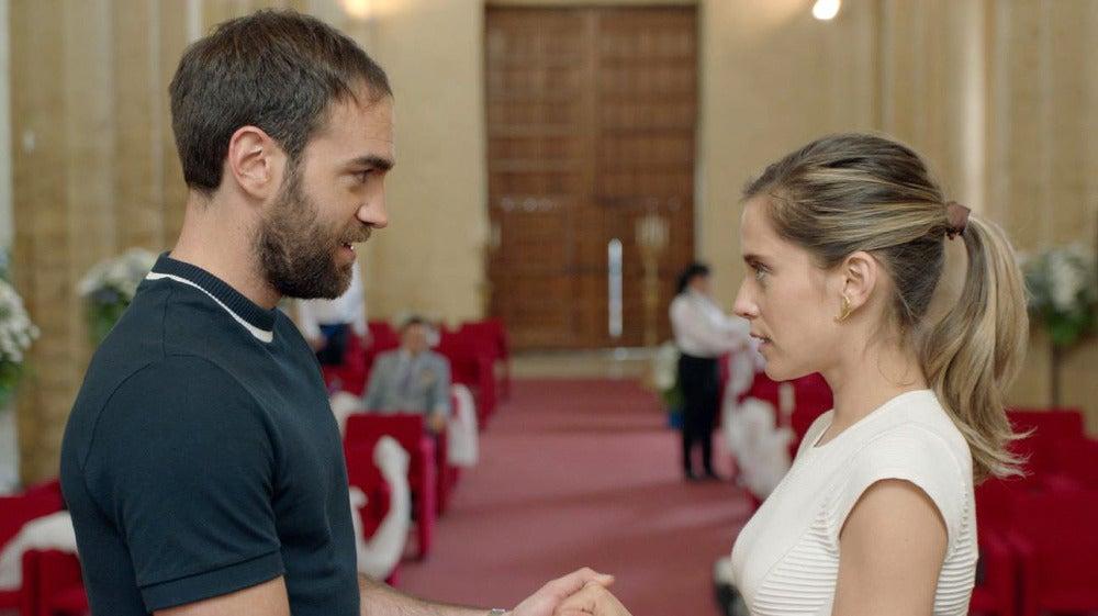 Carmen e Iñaki ensayan su boda