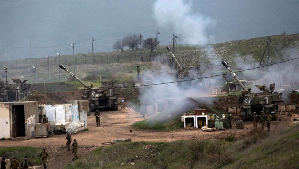 La artillería israelí bombardea varios objetivos