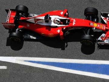 Vettel, en el GP de España