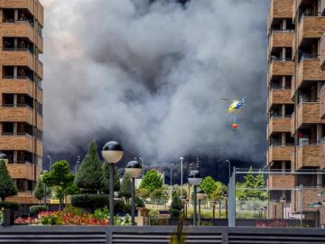 Fuego cerca de la urbanización de Seseña