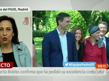 """Frame 150.437824 de: Margarita Robles: """"El proyecto de Sánchez es necesario para España"""""""