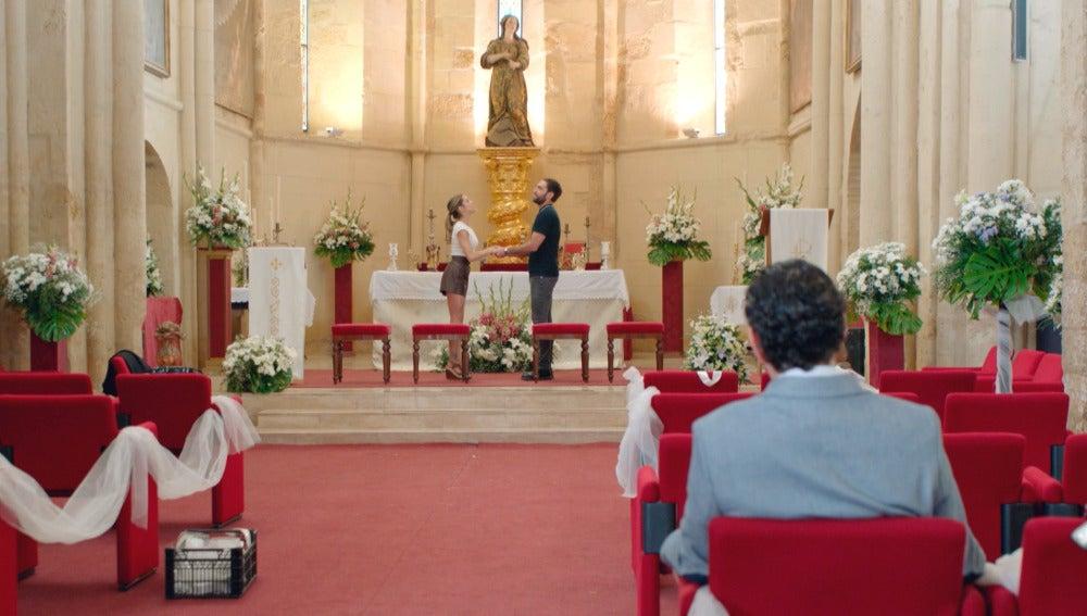 Carmen e Iñaki ensayan el 'Sí, quiero'