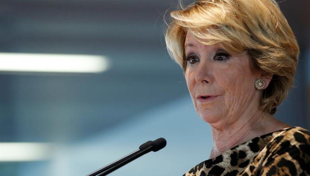 La portavoz del PP de Ayto de Madrid, Esperanza Aguirre