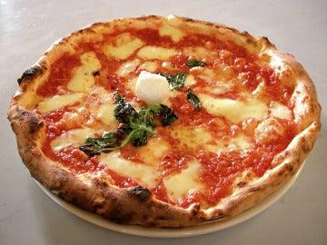 Una clásica pizza Margarita.