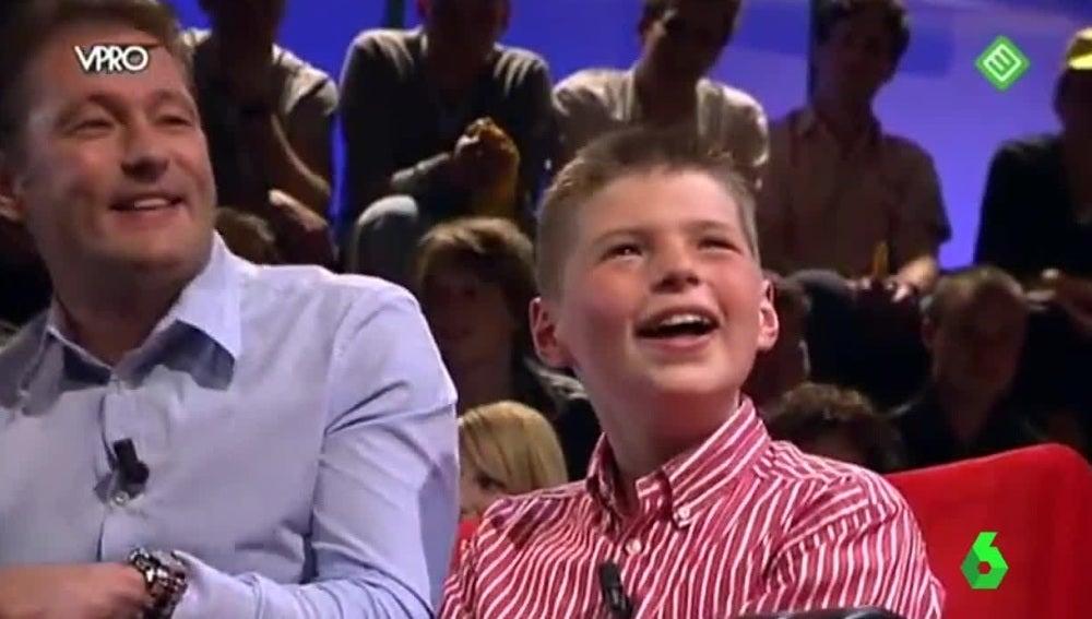 Max Verstappen, junto a su padre en un programa
