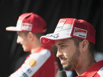 Andrea Dovizioso, durante un acto con Ducati