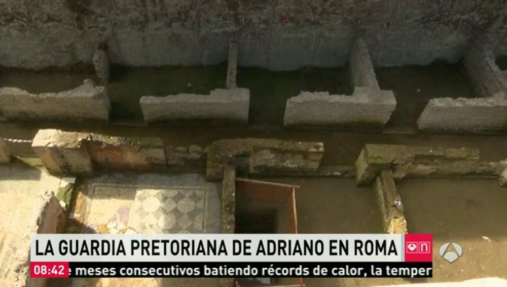 Frame 23.171513 de: Hallan un cuartel de la Guardia Pretoriana del año 117 durante la construcción de una nueva línea de metro en Roma