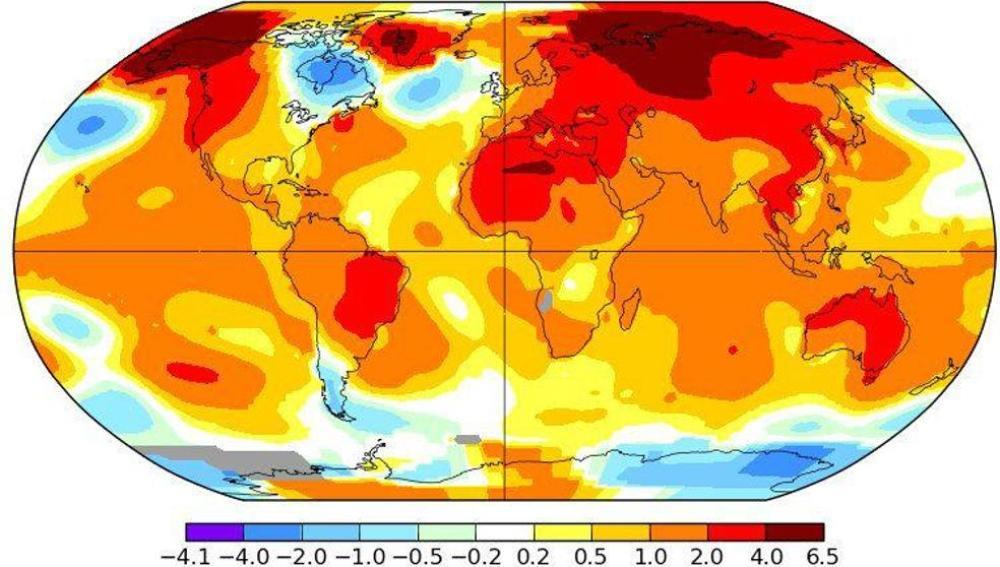 Temperaturas globales de la Tierra en abril de 2016