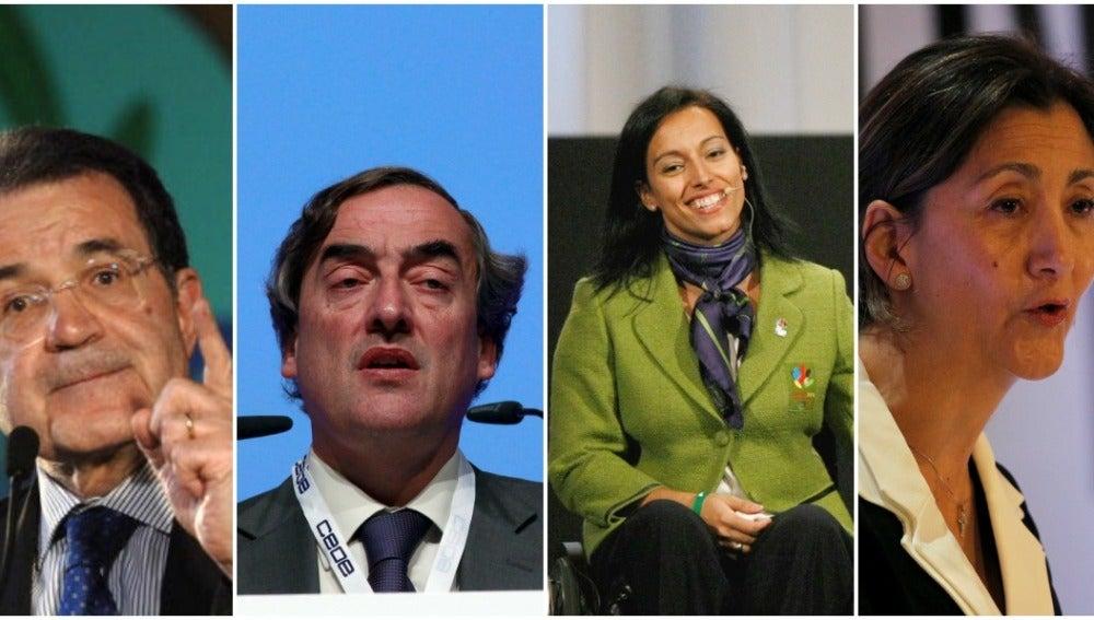 Romano Prodi, Juan Rosell, Ingrid Betancourt y Teresa Perales