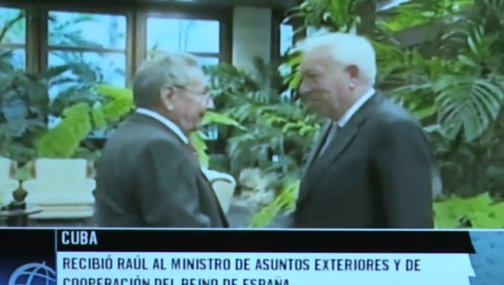 """Frame 2.934812 de: Margallo, tras la reunión con Raúl Castro: """"Marca un antes y un después que tiene que ser aprovechado"""""""