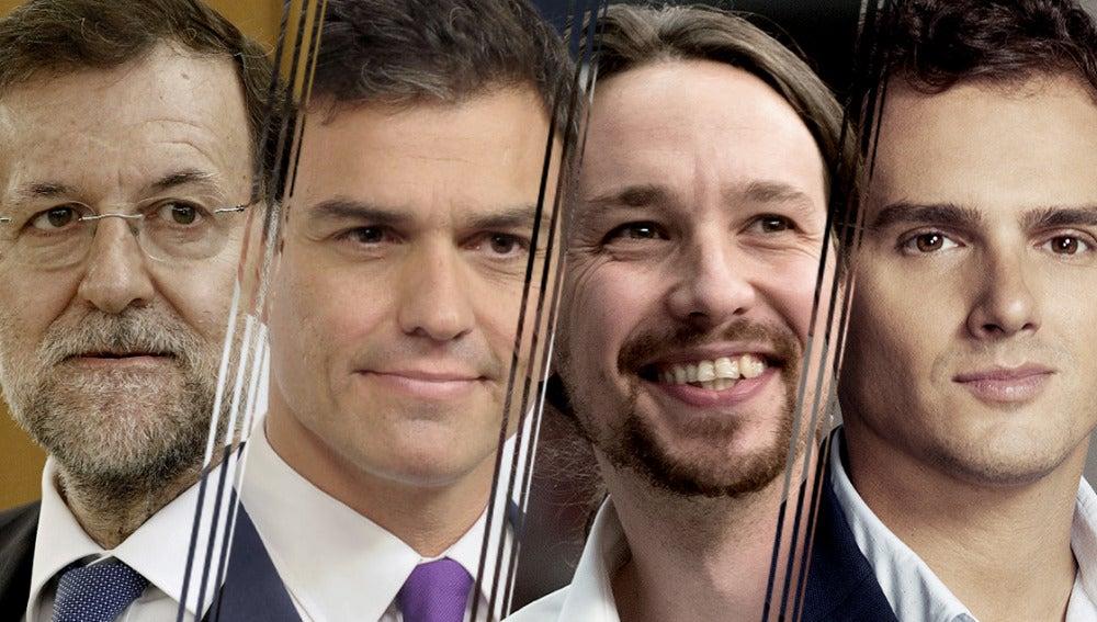 Mariano Rajoy, Pedro Sánchez, Pablo Iglesias y Albert Rivera pasarán 'Dos días y una noche' con Susanna Griso