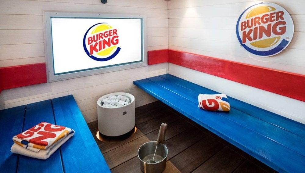 Sauna y hamburguesas, deliciosa combinación, ¿no? ¿NO?