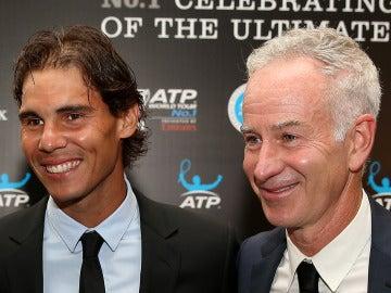 Rafa Nadal y John McEnroe
