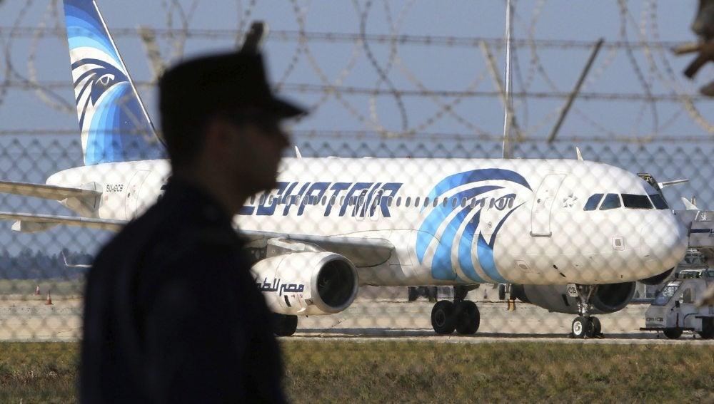 Un avión de la compañía de EgyptAir
