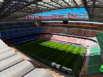 Panorámica del estadio de San Siro