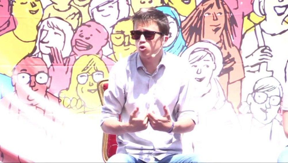 Íñigo Errejón en un acto en Logroño
