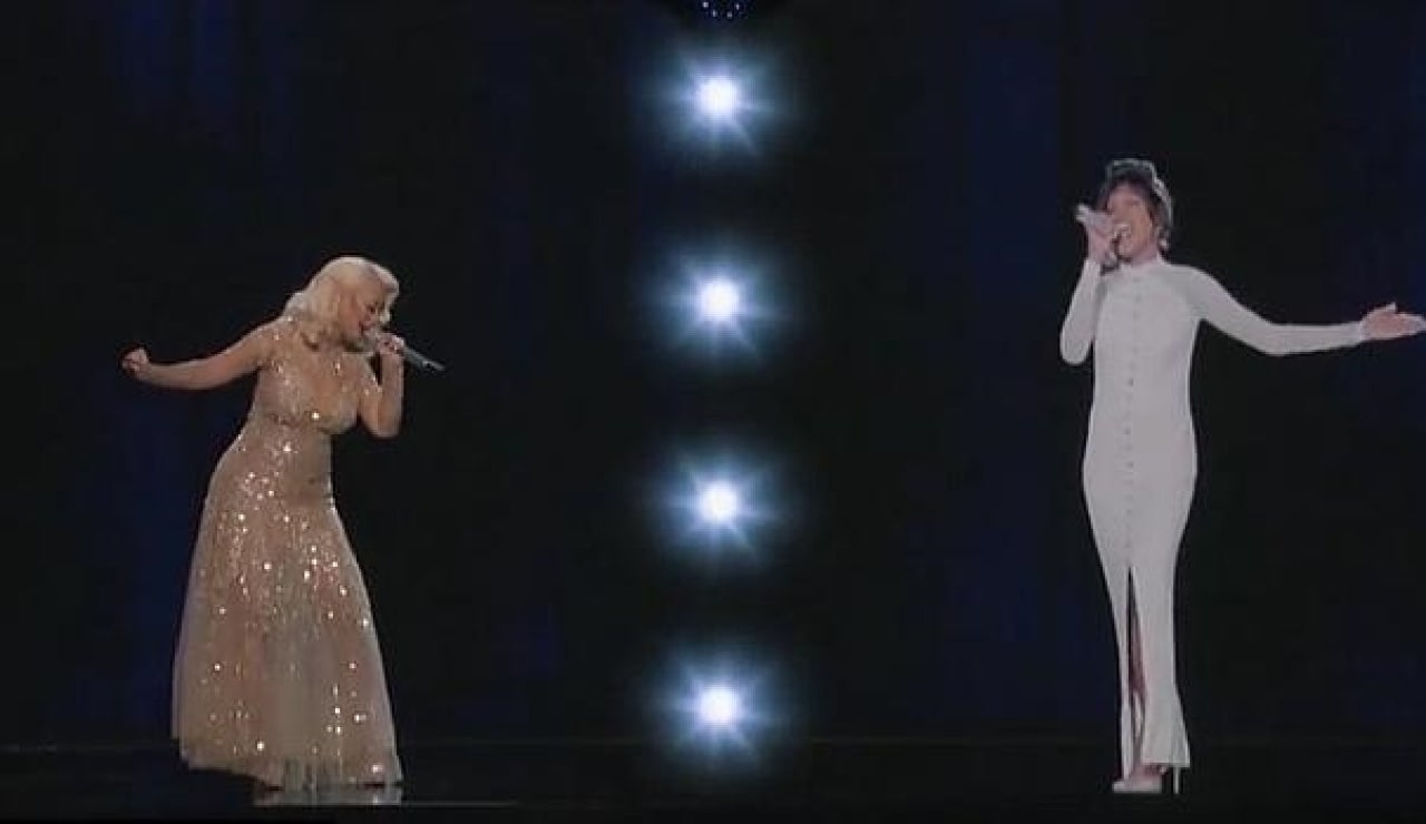 Christina Aguilera y el holograma de Houston