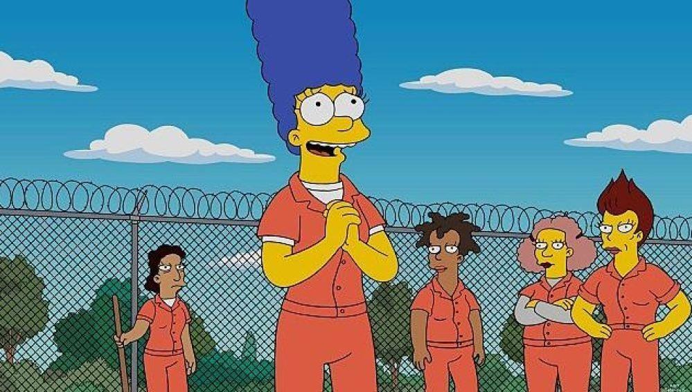 Marge entra en la cárcel de 'Orange is the New Black'