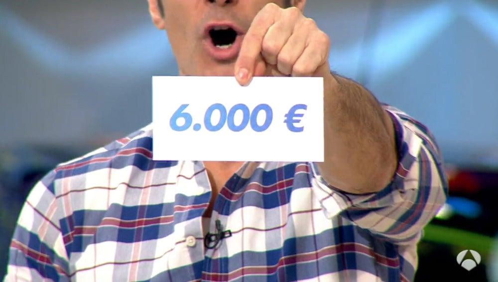 6000 euros de premio