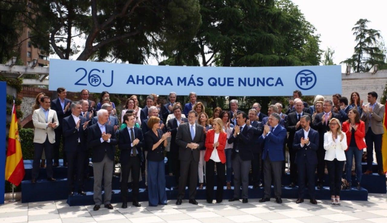 Mariano Rajoy en acto de campaña