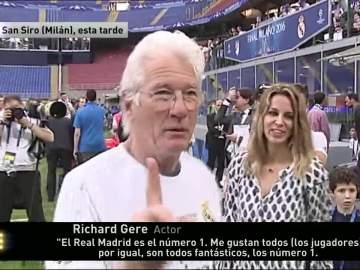Richard Gere acude a Milán para apoyar al Madrid