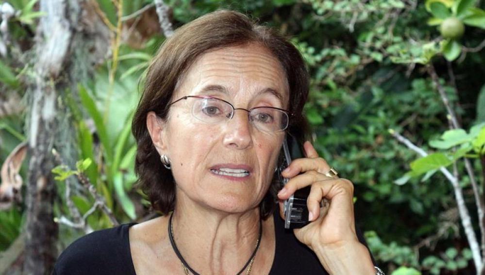 La periodista española Salud Hernández tras ser liberada