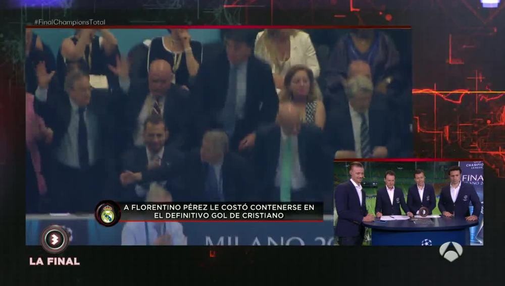 Florentino Pérez celebra la victoria del Real Madrid en la final