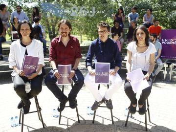 Presentación de la imagen de campaña de 'Unidos Podemos'.