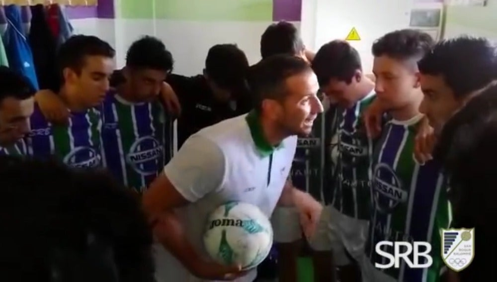 Arenga del entrenador del San Roque