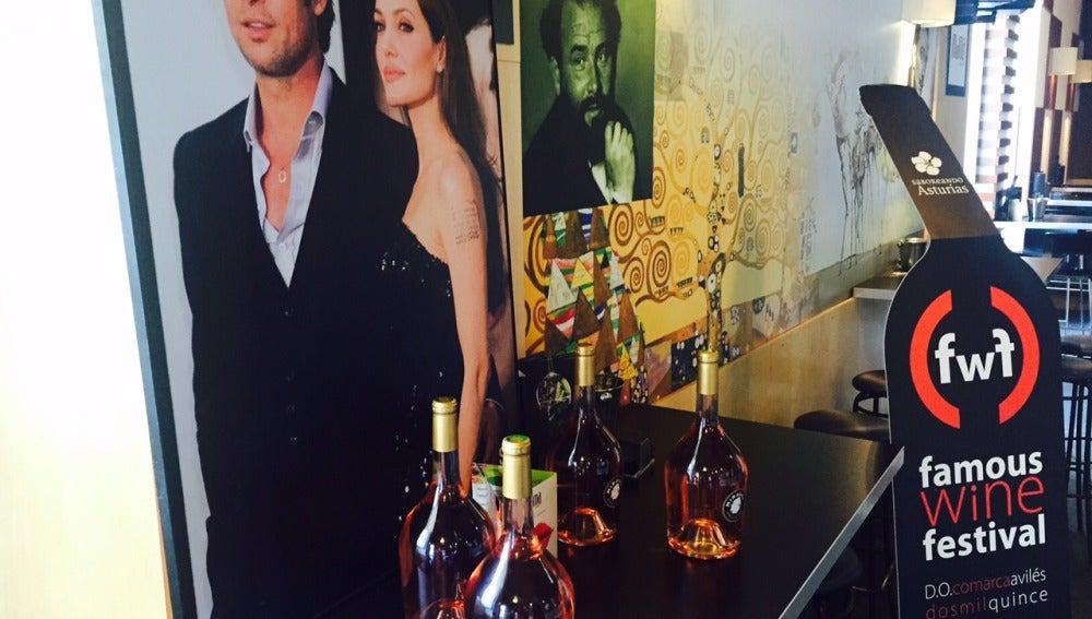 Las botellas del Famous Wine Festival tienen apellido de famoso.