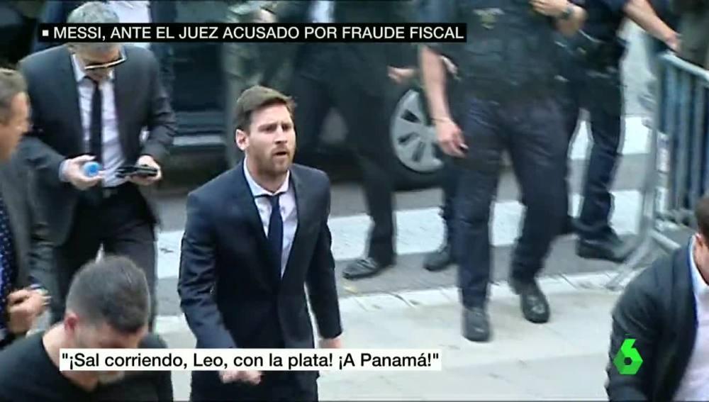 Messi, a su llegada a la Audiencia de Barcelona