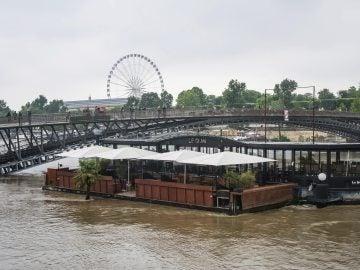 El río Sena a su paso por París tras las lluvias