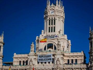 'Españoles Welcome', la pancarta colgada por un grupo de Neonazis