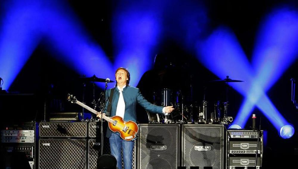 Paul McCartney, durante su concierto en Madrid