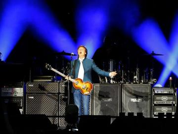Paul McCartney en el escenario del Vicente Calderón.