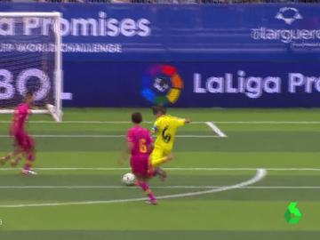 Iker Punzano anota un gol en el LaLiga Promises