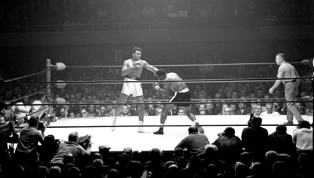 Muhammad Ali durante un combate